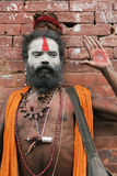 Pashupatinath Sadhu Stock Photo