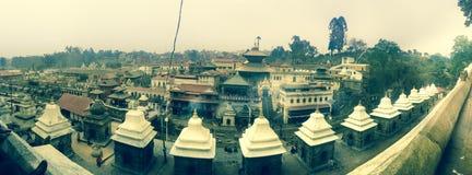 Pashupatinath tempel Arkivbilder