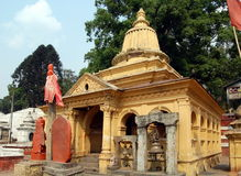 Pashupatinath temple complex Royalty Free Stock Images
