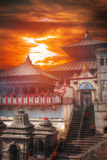Pashupatinath temple complex of Hinduism. Located on the Bagmati River, Kathmandu, Nepal Stock Images