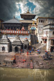 Pashupatinath temple complex of Hinduism. Located on the Bagmati River, Kathmandu, Nepal Royalty Free Stock Images
