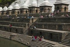 Pashupatinath Temple Ghats - Kathmandu - Nepal Stock Images