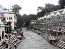 Pashupatinath temple, Kathmandu, August 2011 Stock Photo