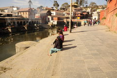 Pashupatinath temple Kathmandu Royalty Free Stock Images