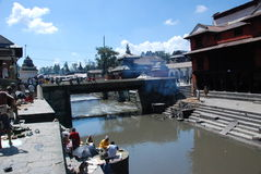 Pashupatinath temple in Kathmandu, Nepal Stock Photography