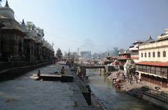 Pashupatinath temple in Kathmandu, Nepal Royalty Free Stock Photos