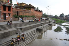 Pashupatinath Temple. Sacred place of Nepal. Place for cremation and Shiva Temple royalty free stock photos