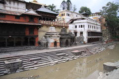 Pashupatinath Temple. Sacred place of Nepal. Place for cremation and Shiva Temple royalty free stock image