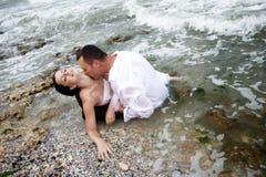 Pasión del verano (retrato de los amantes) Fotografía de archivo