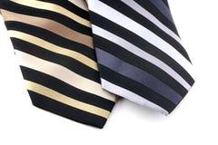 pasiaści szyja krawaty Zdjęcia Royalty Free
