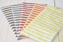 Pasiaste deseniowe tkaniny Zdjęcie Royalty Free