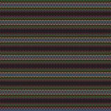 Pasiastego Abstrakcjonistycznego skrobaniny czerni Ciemny Etniczny Rodzimy Bezszwowy Deseniowy tło Fotografia Royalty Free