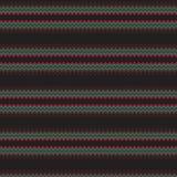 Pasiastego Abstrakcjonistycznego skrobaniny czerni Ciemny Etniczny Rodzimy Bezszwowy Deseniowy tło Zdjęcie Royalty Free