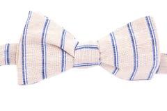 Pasiasty łęku krawat odizolowywający Zdjęcia Royalty Free