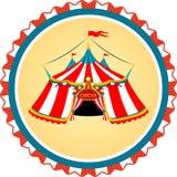 Pasiasty cyrkowy namiot w ramie royalty ilustracja