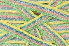 Pasiasty gumowaty cukierek zdjęcie stock
