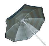 Pasiasty Plażowy parasol Zdjęcia Royalty Free