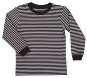 Pasiasty pulower dla dzieci odizolowywających na bielu Fotografia Royalty Free