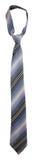 Pasiasty szarość krawat Obraz Stock
