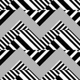 Pasiasty Textured Geometryczny Wektorowy Bezszwowy wzór Zdjęcia Stock