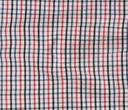 Pasiasty zmięty tablecloth. Zdjęcie Stock