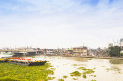 Pasig river in Intramuros district, Manila Stock Image