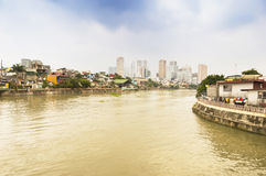Pasig river in Intramuros district, Manila Stock Photography