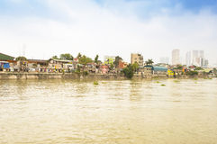 Pasig river in Intramuros district, Manila Stock Images