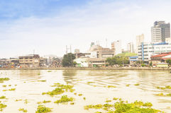 Pasig river in Intramuros district, Manila Royalty Free Stock Image
