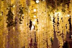 Pasillo adornó con las flores Imagen de archivo