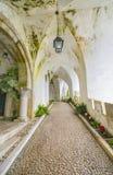 Pasillo antiguo en el castillo DA Pena en Sintra Fotografía de archivo libre de regalías