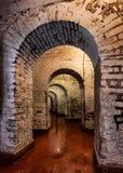 Pasillo arqueado en el fuerte viejo Jackson Fotos de archivo