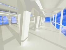 pasillo blanco grande 3d Imagen de archivo