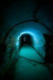 Pasillo, cárcel de Jilava del fuerte 13, Rumania Imagen de archivo