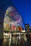 Pasillo colorido del mercado, Rotterdam Foto de archivo libre de regalías