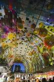 Pasillo colorido del mercado, Rotterdam Fotos de archivo libres de regalías