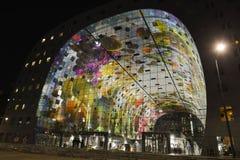 Pasillo colorido del mercado, Rotterdam Imagen de archivo libre de regalías
