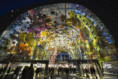 Pasillo colorido del mercado, Rotterdam Fotografía de archivo libre de regalías