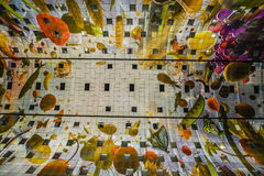 Pasillo colorido del mercado, Rotterdam Imagenes de archivo