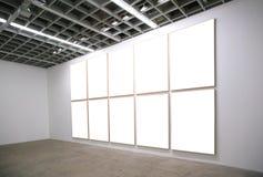 Pasillo con los marcos blancos Imágenes de archivo libres de regalías