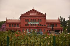 Pasillo conmemorativo de Seshadri Iyer, Bangalore, Karnataka fotos de archivo libres de regalías