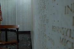 pasillo conmemorativo dentro del cementerio americano de Nettuno, Roma, AIE imagen de archivo