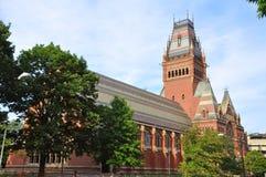 Pasillo conmemorativo, Universidad de Harvard, Cambridge, mA Imágenes de archivo libres de regalías