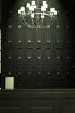 Pasillo contrario negro Fotografía de archivo libre de regalías