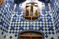 Pasillo de cerámica de las casas Batlo Foto de archivo libre de regalías