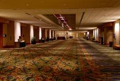 Pasillo de Convention Center del hotel Imagen de archivo libre de regalías