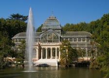 Pasillo de cristal en Park del Retiro Madrid imágenes de archivo libres de regalías