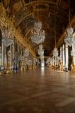 Pasillo de espejos, palacio de Versalles, Francia imagenes de archivo