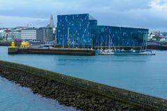 Pasillo de Harpa en Reykjavik Fotografía de archivo