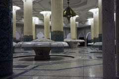 Pasillo de la ablución - rey Hassan de la mezquita II Fotos de archivo